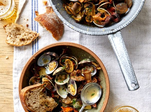 Clams and doughnuts: Ravinder Bhogal's recipes for cooking with beer